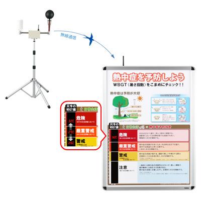 無線式熱中症予防表示パネル 401B(鶴賀電機) レンタル