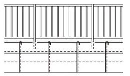 連続フェンス塀