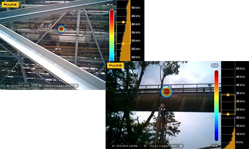ガス漏れ検知画像