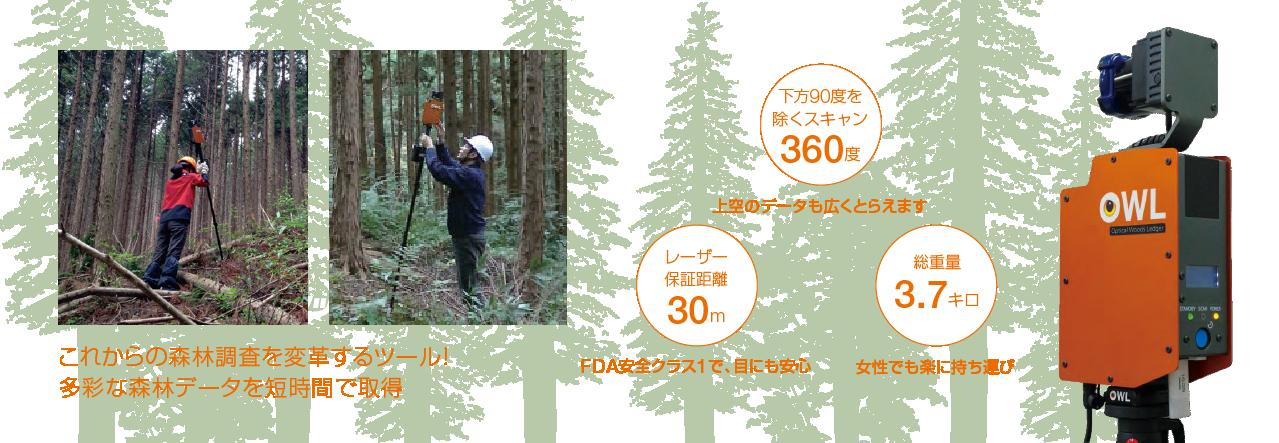 『森林3次元計測システム「OWL®」(アウル)』とは
