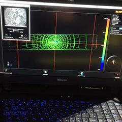 計測器インストラクション:高速道路地下の空洞範囲調査と内部に置かれている土嚢の位置及び範囲の確認