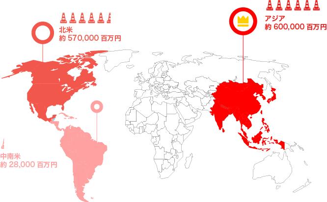 日本企業の海外工事件数ランキング