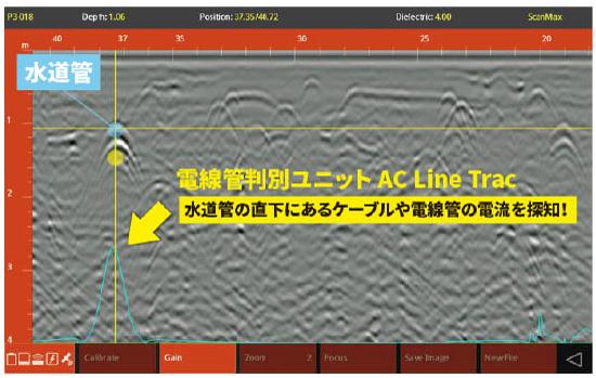 電線管判別ユニット「Line Trac」標準搭載