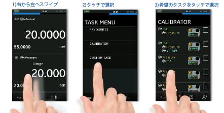 使いやすいタッチスクリーン