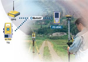 BluetoothR標準搭載で測量機器との完全ケーブルレスを実現