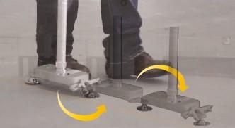 本体を回転させ直線を測定