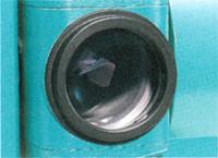 反射シートターゲットが使える新設計の光学系