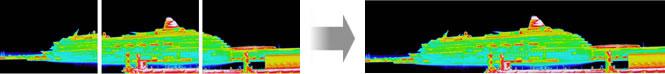パノラマ撮影(スキャン合成)した熱画像を1画像に結合できます。