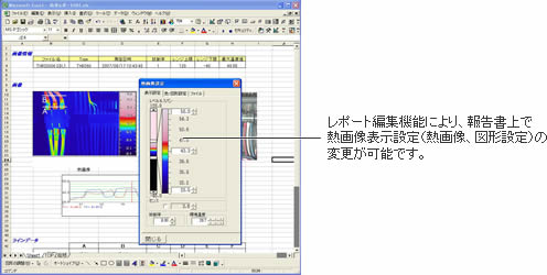 Excel、Wordテンプレートで画像、グラフを自由にレイアウトできます。