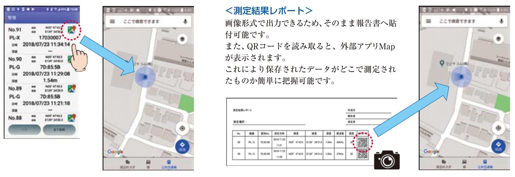 リスト形式でスマートフォンの画面にデータが表示リスト形式でスマートフォンの画面にデータが表示