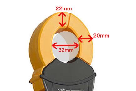 20mm幅の薄型センサで狭い隙間でも簡単測定!