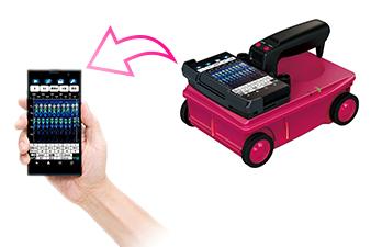 スマートフォンをディスプレイとして採用