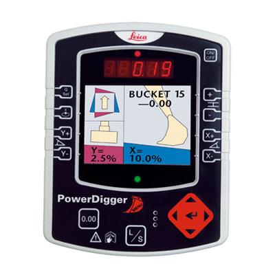 油圧ショベルガイダンスシステムPowerDigger2D