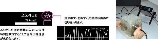 受信波形のダイレクト表示