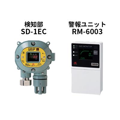 スマートタイプガス検知セットRM-6003-SD-1EC(H2S)